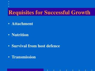 Requisites for Successful Growth