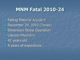 MNM Fatal 2010-24