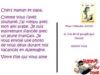 Pour Maman AMOI 3, rue de la poupée qui tousse 06000 Nice