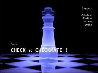 Check  to  Checkmate !