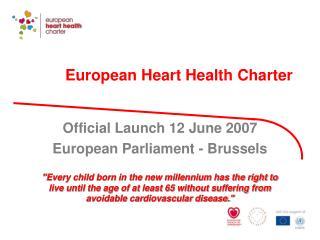 European Heart Health Charter