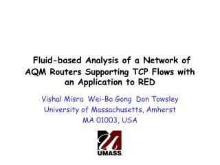 Fluid-based Analysis of a Network of AQM Routers Supporting TCP Flows with an Application to RED