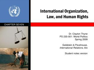 International Organization, Law, and Human Rights