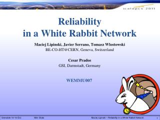 Reliability in a White Rabbit Network