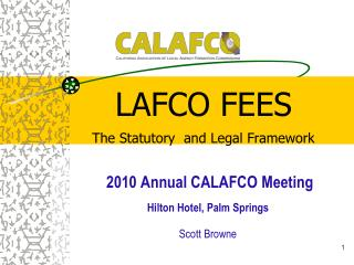 LAFCO  FEES The Statutory  and Legal Framework