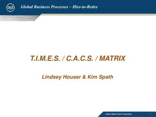 Global Business Processes – Hire-to-Retire