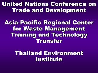 WORKSHOP BUILDING NATIONAL CAPACITY IN RAPIDLY INDUSTRIALIZING COUNTRIES ON