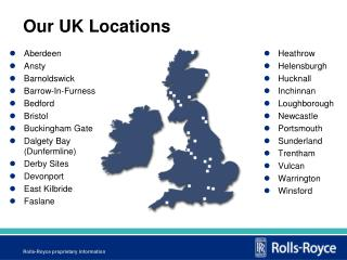 Our UK Locations