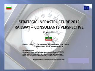 STRATEGIC INFRASTRUCTURE 2012 Railway – CONSULTANTS PERSPECTIVE