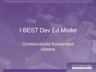 I-BEST Dev Ed Model