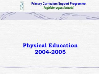Physical Education 2004-2005