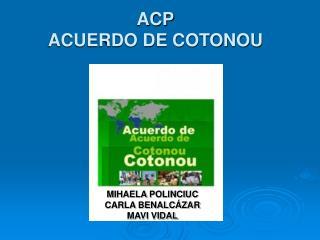 ACP ACUERDO DE COTONOU