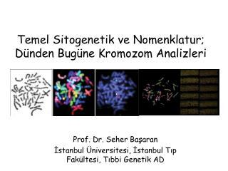 Temel Sitogenetik ve  Nomenklatur ; Dünden Bugüne Kromozom Analizleri