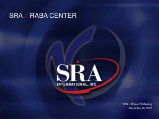 SRA  //  RABA CENTER