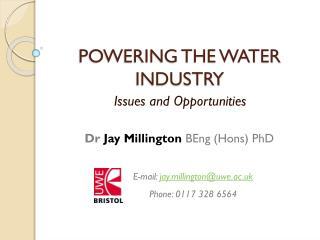 POWERING THE WATER INDUSTRY