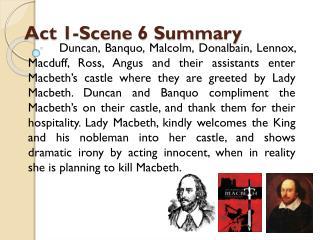 Act 1-Scene 6 Summary