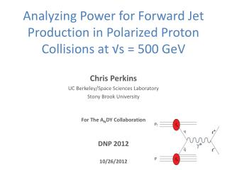 Analyzing Power for Forward Jet Production in Polarized Proton Collisions at √ s  = 500  GeV