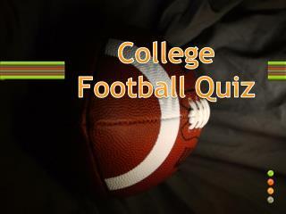College Football Quiz