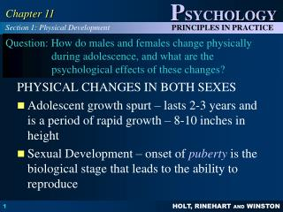 PHYSICAL CHANGES IN BOTH SEXES