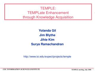 TEMPLE: TEMPLate Enhancement  through Knowledge Acquisition