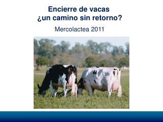 Encierre de vacas  ¿un camino sin retorno? Mercolactea 2011