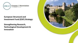 European Structural and Investment Fund (ESIF) Strategy: