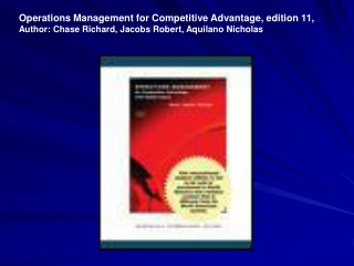CHAPTER 8 PROCESS MANAGEMENT: LEAN PRODUCTION  SIX SIGMA QUALITY ISSUES IN SUPPLY CHAIN MANAGEMENT