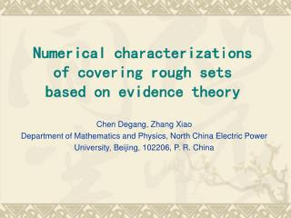 Numerical characterizations of covering rough sets  based on evidence theory