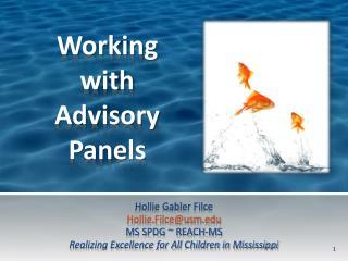 Working  with  Advisory Panels