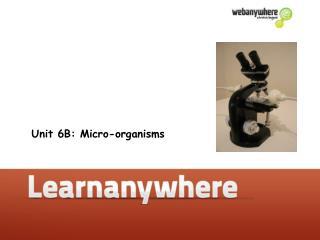 Unit 6B: Micro-organisms
