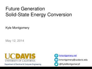 Future Generation  Solid-State Energy Conversion