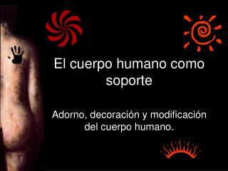 El cuerpo humano como soporte