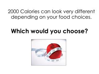 2000 Calories can look very different depending on your food choices. Which would you choose?