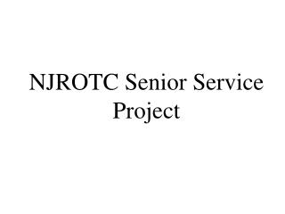 NJROTC Senior Service Project