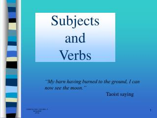 Subjects  and  Verbs