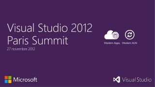Visual  Studio 2012  Paris Summit 27  novembre 2012