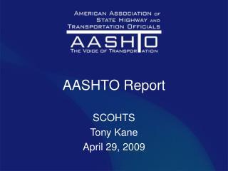AASHTO Report