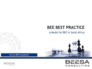 BEE BEST PRACTICE