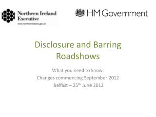 Disclosure and Barring  Roadshows