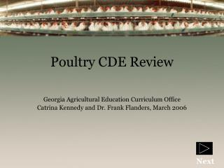 Poultry CDE Review