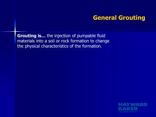 General Grouting