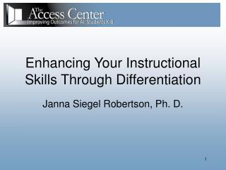 Janna Siegel Robertson, Ph. D.
