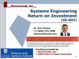 Systems Engineering Return on Investment (SE-ROI)