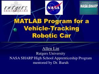 MATLAB Program for a Vehicle-Tracking Robotic Car
