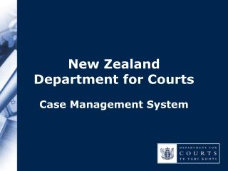 New Zealand  Department for Courts