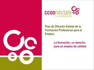 Plan de Difusión Estatal de la Formación Profesional para el Empleo