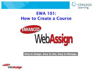 EWA 101:   How to Create a Course