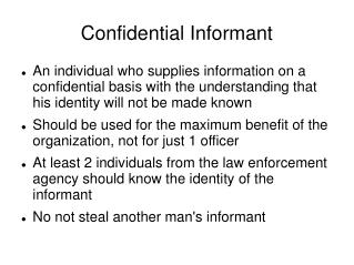 Confidential Informant