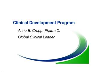 Clinical Development Program