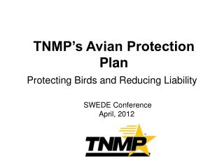 TNMP's Avian Protection Plan